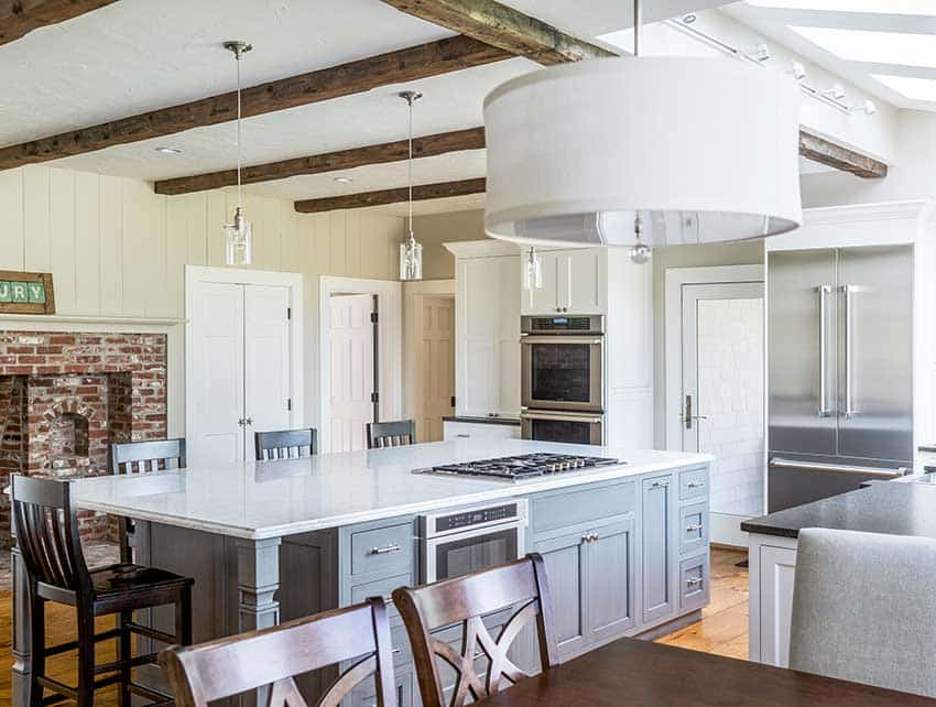 duxbury kitchen and bath remodel project - kitchen island image