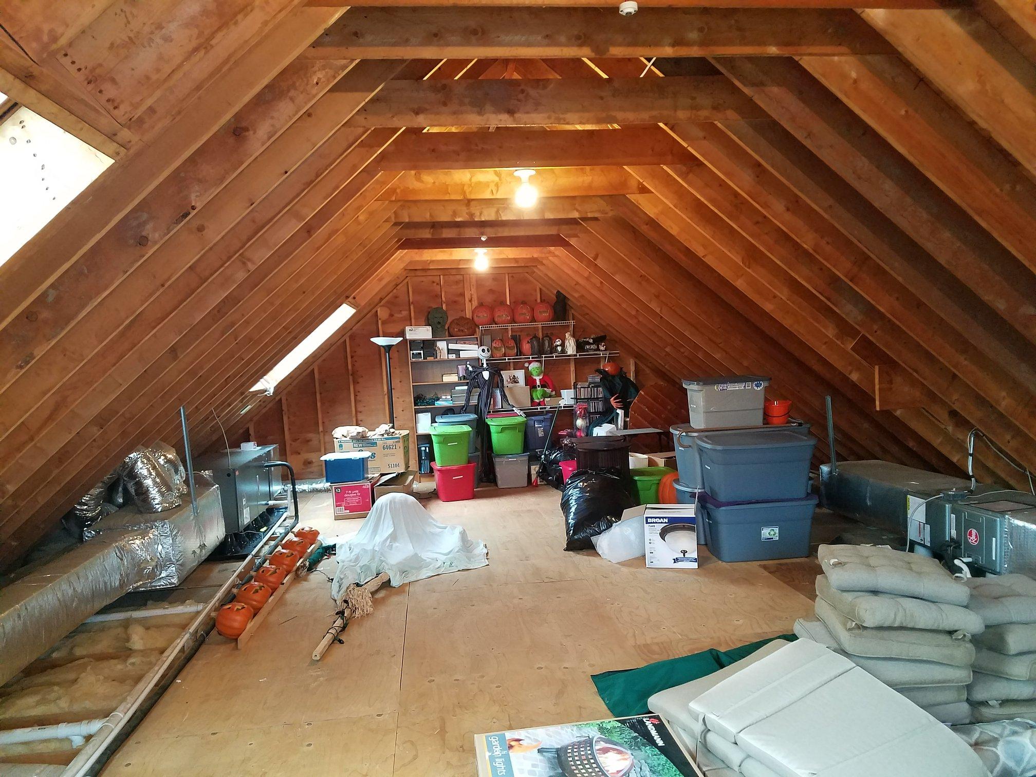 before attic remodel
